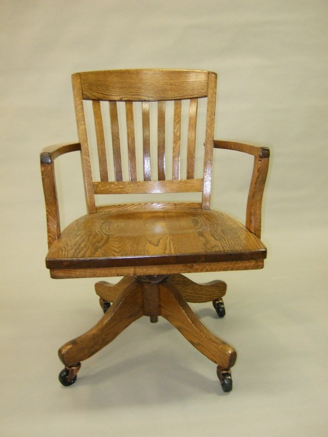 - Oak Office Chair On Wheels
