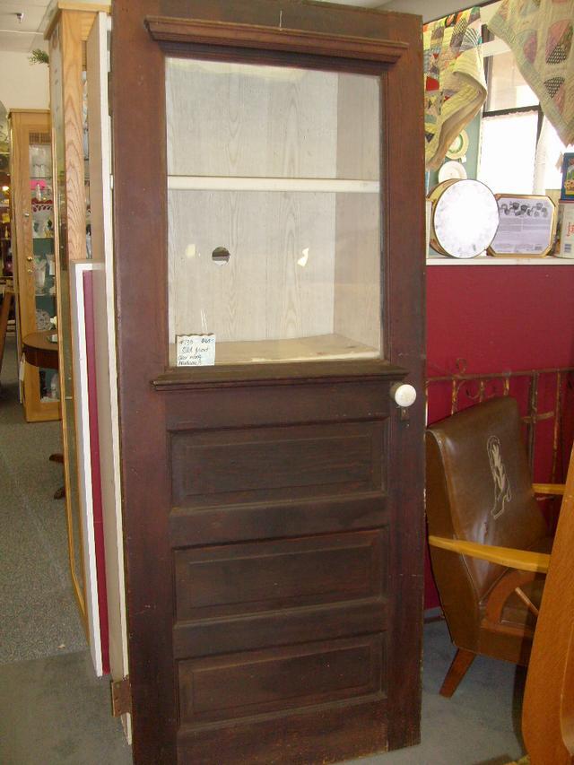 - Antique Front Door With Original Knob And Hardware