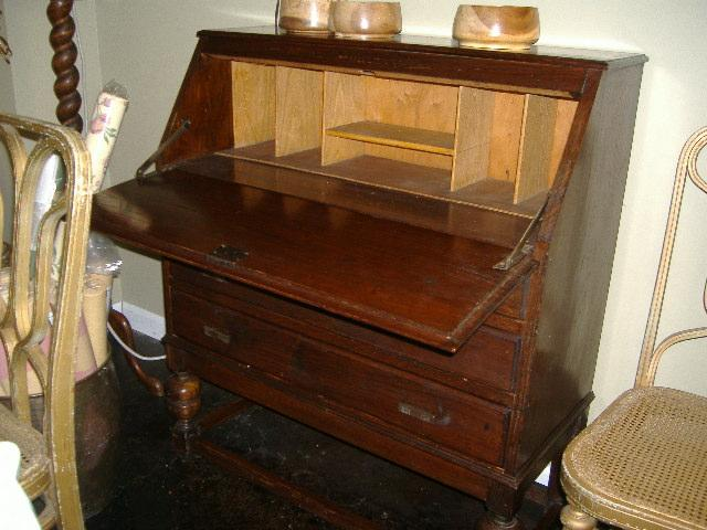 Early Twentieth Century Drop Front Secretary Desk