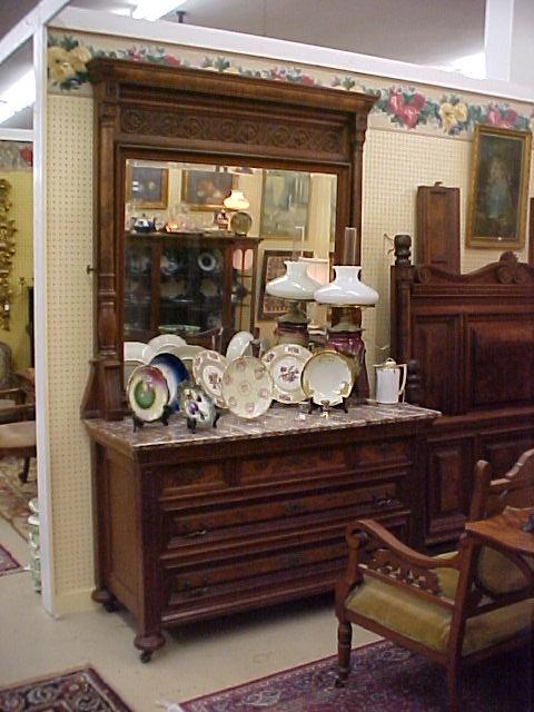 Marble top dresser and matching bed for Matching bed and dresser