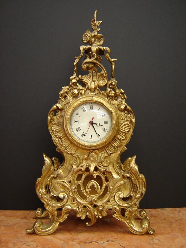 French brass mantel clocks